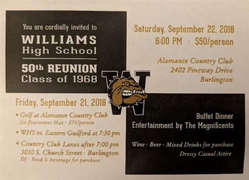 WHS Class of 68 Save the date side 1
