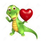Gator with heart