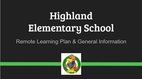 Highland Remote Learning Plan