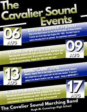 Cavalier Sount Events