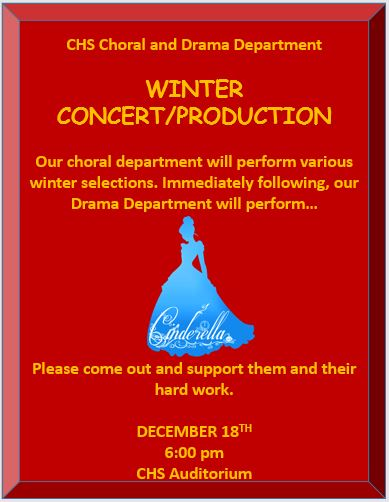 Choral/Drama Winter Production