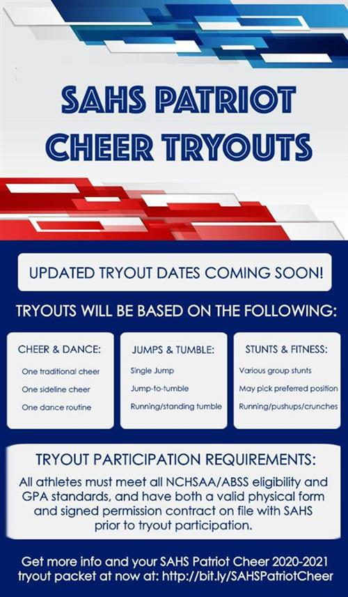 SA cheer tryouts