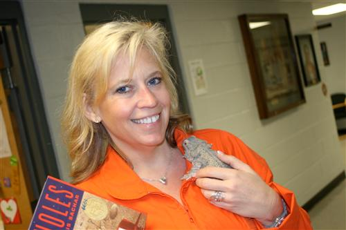 Our class pet: bearded dragon lizard....