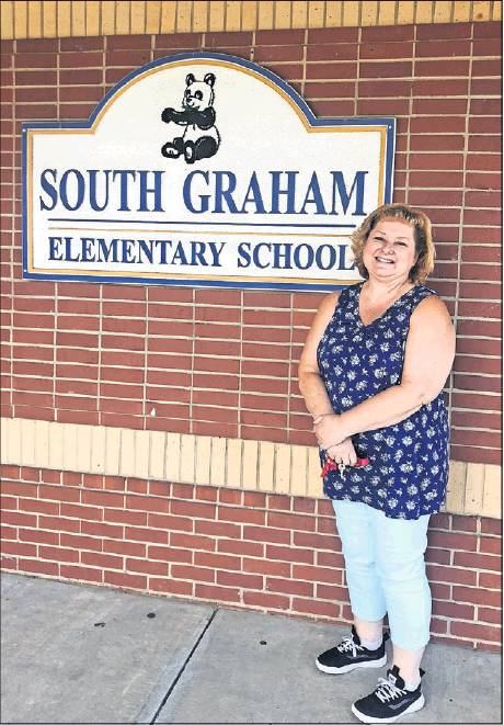 Angie Riffe started at South Graham Elementary School in the era of Apple IIe computers and floppy