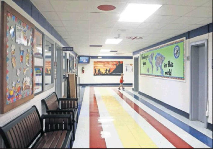 Alexander Wilson Elementary School used part of the lottery money to repaint the school.