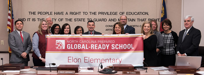 Congratulations to Elon Elementary,  NC Global Ready School!