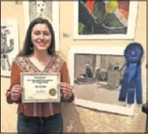 Kenzie Talhelm won Best in Show for the high school category.