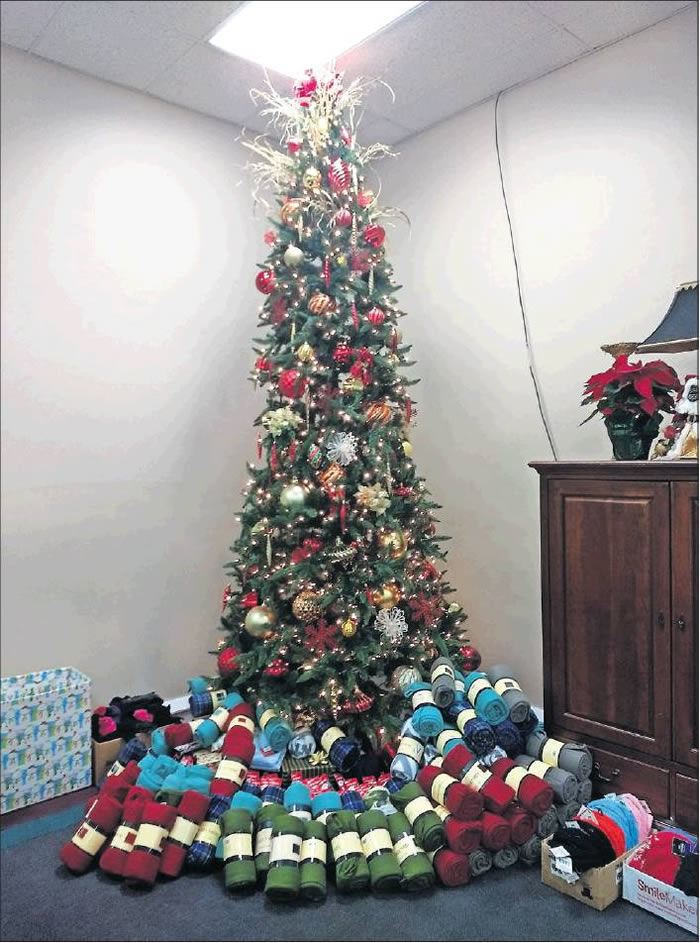 Sachdev and Hogan Dentistry of Burlington provided blankets, which were placed under the Christmas