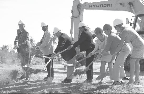 Alamance-Burlington Board of Education members helped break ground in 2010 for the new Career and Technical Education Center.