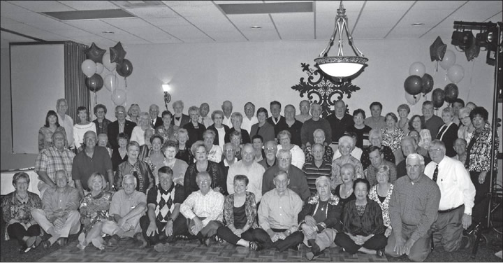 "Southern High Class of 1961, the first graduating class of consolidated schools from the southern part of the county, recently held their 50th class reunion. Left to right, row one, are: Linda Keck Kirkpatrick, Larry Simmons, Joyce Scarlett Wall, Don Sharpe, Freo Webster, Norman Joyner, JoAnne Phillips Loggins, Mike Holt, Sue Roberson Crabtree, Pam Butler Porterfield and Clinton Dodson. Row two: Dewey Brown, Don Huffman, Emily Jo Rich Cannon, Ruth Anne Boone Jones, Jeanette Burden Martin, Jim Stone, Ronnie Murray, Joe Varnadore, Tony Patterson, Rodger Thompson, Susan Hoffman Randleman , Bonnie Rutledge Allred, Leon Payne, Linda Capps Latta, Oliver ""Buster"" Holmes and Danny Allen. Row three: Faye Gibson Osborn, Betty Jobe Williamson, Larry Davis, Barbara Gilley Greeson, Marie Clark Teague, Becky Taylor Rice, Trudie Fogleman McPherson, Jamie McPherson Nash, Alice Fogleman Lineberry, Kay Guthrie Kimrey, Joyce Johnson Newton, Sandra Angel McLaughlin, Jerry Griffin and Hutton Euliss. Standing: Linda Shoe Johnson, James Coble, Becky Steele Shoffner, Glennice Thompson Bunting, Jerry Cooper, Fannie Guthrie Zachary, Billie K Glosson Martin, Jimmy Snipes, Nina Guthrie Greeson, Bryce Gibson, Brenda Vincent Adyt, William Scott, Jean Moon Nicholson, Jim Holt ,Mary Elliott Worsham, Alton Duffer, Ruthie Graves Woodruff, Karlis Kornbergs, Terry Zachary, Harold Lynch, Don Lawrence, Darrell Newton, Anne Allen Hadley, Larry McKinnon, Francine Coble Wicker, Glenda Greeson Morton, Sylvia Patterson, Dalton Coble, June Troy McKinnon, Jimmy Scott, Clyde Dodson, Kay Duffer McDaries and Carolyn Layell Euliss"