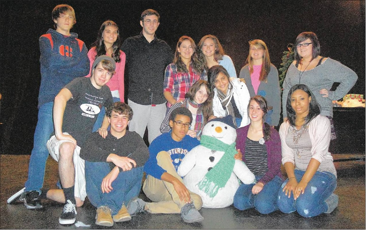 "The cast of Western Alamance High School Drama Department's production of ""The Grinch"" poses for a recent photo. Advanced theater students will perform the show from 11:15 a.m. to 11:45 a.m. Dec. 17 at the school located at 1731 N.C. 87 North, Elon. Admission is $7 for children ages 5 and up and this price includes one parent chaperone. You can reserve a spot by calling Connie Rea at (336) 538-6020 or email her at connie_rea@abss.k12.nc.us ."
