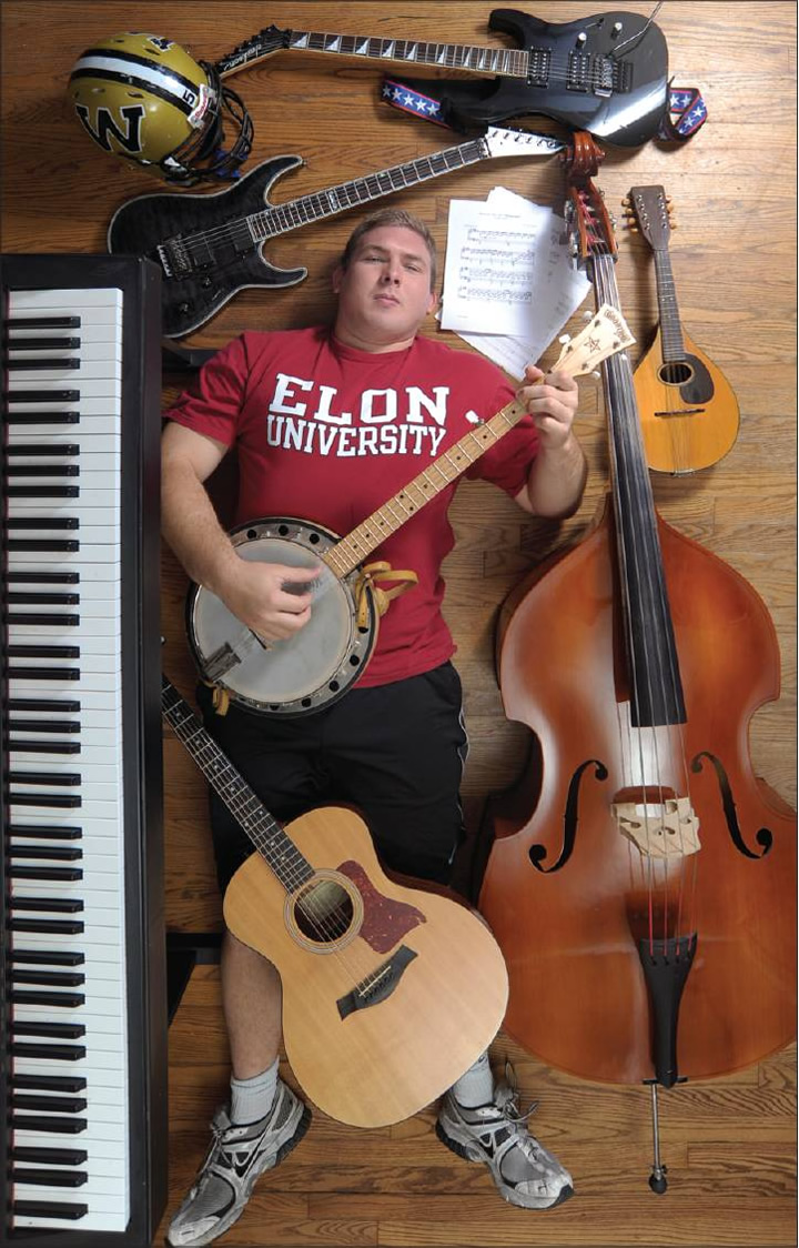 Jacob Ingle, a Williams High School senior, plays a total of seven different musical instruments. He will be attending Elon in the fall on a football scholarship.