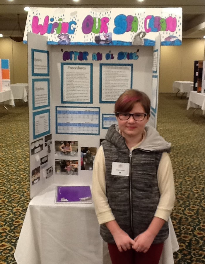 Grand Prize Marvin B. Smith Elementary: Kenzy Lehew with project Wiping Our Sea Clean