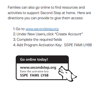 Second Step Family Code