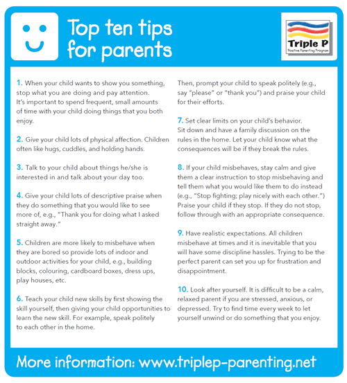 Top ten tips for parents