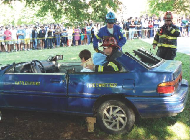 5/18/13 Williams High gets mock wreck demonstration