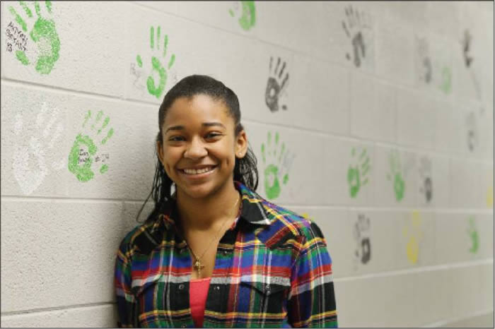 Eastern Alamance High School senior Crystal Brown coordinated a gospel festival during which the Montford Point Marines were honored for Black History Month. Brown did this as her senior project for school. She plans on coordinating a similar festival next year.
