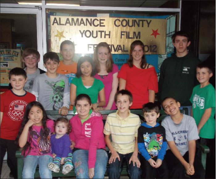 Above are some of the participants in last year's inaugural Alamance County Youth Film Festival, the brainchild of Sam Cryan, 13 (front row in yellow shirt). This year's event is set for 2 p.m. to 5 p.m. Dec. 14, and entries are now being accepted.