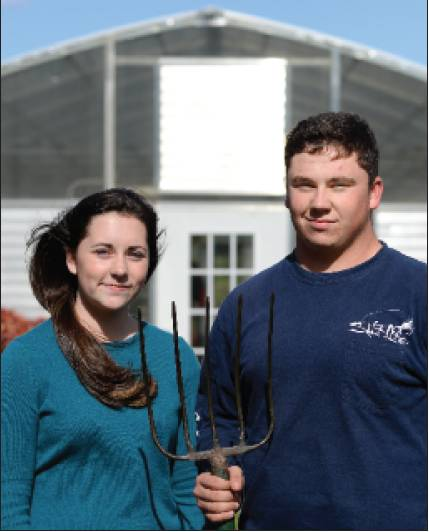 Twins Jacy and Graham Kirkpatrick, 17, are in Louisville, Ky., representing Southern Alamance High School in the National Future Farmers of America Convention.