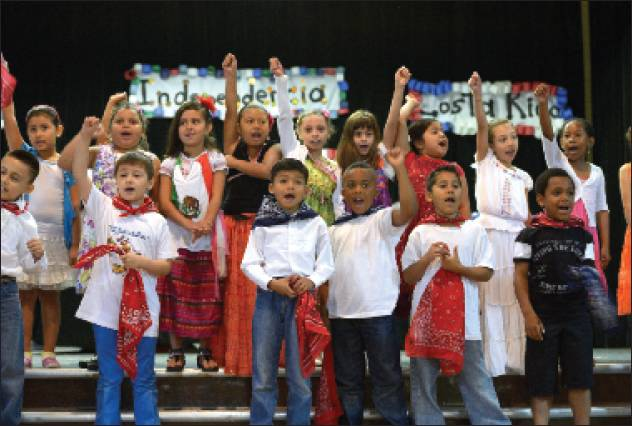 South Graham Elementary on Friday held a Latino Independence Day celebration by the Splash! Spanish Immersion program students. Students performed authentic songs and dances from four different countries — Chile, Costa Rica, Colombia and Guatemala — for the entire school to enjoy.