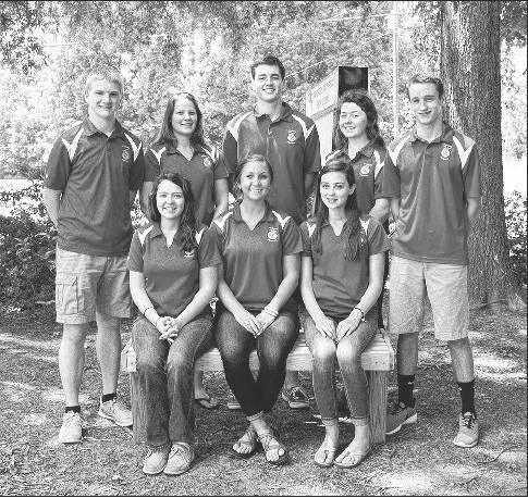 Eight students in Southern Alamance High School's FFA Horticulture program became Certified Young Plant Professionals in North Carolina. Shown from left, front row, are Nora Ferguson, Claire Blackwell, Haley Fogleman and in the back row are Davis Kappert, Carly Fuller, Prescott Kirkpatrick, Sarah Davis and Jacob Ray. The certification is administered by the N.C. Nursery and Landscape Association Inc. to recognize proficiency in the nursery workforce, distinguish young green industry professionals and provide the green industry with a means of identifying qualified young nursery professionals. Applicants must have completed, or be enrolled in, Horticulture II or equivalent classes. The exam involves writing and plant identification.