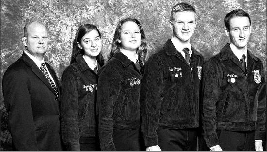 Southern Alamance High School's FFA Nursery/Landscape Career Development Event Team — from left, adviser Nick Anders, and Haley Fogleman, Carly Fuller, Davis Kappert and Jacob Ray — was crowned national champion at the 88th National FFA Convention at the end of October in Louisville, Ky. Individually, Kappert, Fuller and Ray respectively placed first, second and seventh nationally. This is the fourth national championship for a Southern High Nursery/Landscape team. Last year, Southern FFA also earned a national championship in the Floriculture Career Development Event. Fuller and Kappert are two-time FFA National Champions. Fuller earned First Place High Individual Honors and Davis Kappert earned Third Place High Individual Honors in 2014.