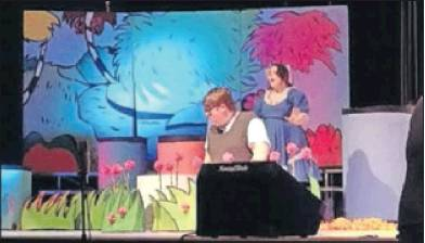 "Crysta Heady (Gertrude McFuzz) and Josh Johnson (Horton the elephant) star in the production of ""Seussical the Musical"" today through Saturday in the Graham High School auditorium, 903 Trollinger Road, Graham."