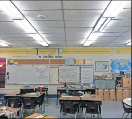 The school system tested out new Lithonia LED lights at Eastlawn Elementary School to see how they compared to outdated florescent lights.