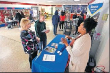Students and parents learn about course options at the registration fair on Monday at Southern Alamance High School in Graham.
