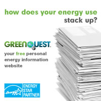 How does your energy use stack up? - GreenQuest your free personal energy information website.